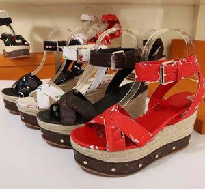 1Summer women's thick soled sandals thick soled slope heel thick soled women's shoes lace up breathable mesh sports sandals slippers shoe008