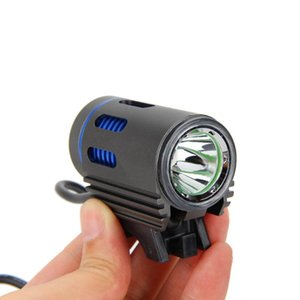 XM-L2 White Blue LED Bike Light 3000LM Mini Bicycle Light MTB Front Lamp Outdoor Cycling Headlight + 18650 Battery Pack+ Charger