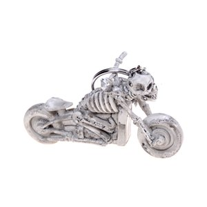 Chains Charming Motorcycle Skull Purse Bag Car Key Ring Rubber Auto Keyring Gift