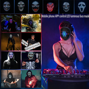 2020 New Arrival Christmas LED Mask Face-Changing Glowing Mask APP Control DIY Shining Mask For Holiday DJ Party Carnival