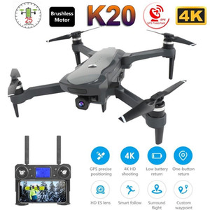 2020 NEW K20 Drone With 4K Camera Dual GPS One-Key Return Headless Mode Follow Me Circle RC Drones Toys VS SG907