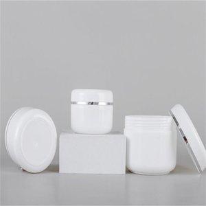 20G 30G 50G 100G 100 g vuota Bianco Bianco Bottiglia Portatile Rifinibile Cosmetic Cream Cream Jar con fodera interna e coperchi Campione contenitore bottiglia barattolo