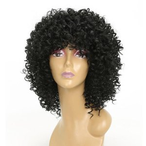 Wig Deep Curly Lace Front Wig Afro KInky Curly Hair Short Curly Human Hair Wig 150% Density Human Hair Bob Wigs