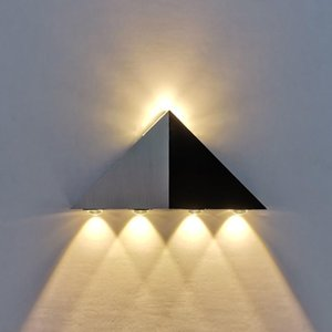 LED triangle wall light 5W indoor living room wall hanging lamp AC85-265V aluminum stairs aisle lamp high power lights