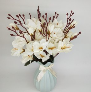 Simulation flower magnolia flower fragrance snow orchid wedding project decoration flowers green plants small flowers 6 colors