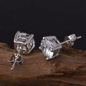 925 silver four claw earrings for men and women flower copper plated earrings