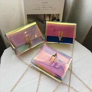 Hot Sale Local Lady Transparent Laser Bag Bag Shoulder Messenger Crossbody Beach Evening Stock New Women 2020 Lovely For Handbag Qjxnj