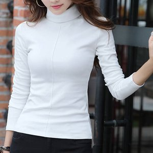 White Black Casual Turtleneck Spring Autumn Knit Sweater Women Pullover Plus Size Jumper Sweter Mujer A1112