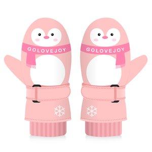 Luxury-Children Winter Warm Kids Windproof Snow Glove Waterproof Gloves For Skiing Cycling Climbing