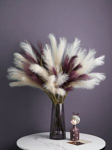 fake feature bouquet flower pampas grass new arrival home decor Nordic style pink white orange Y1128
