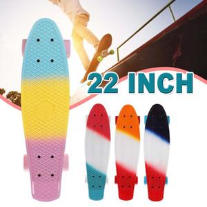 22 pouces PU Mini Poisson Board Cruiser Rocket Skateboard Banane Skate Board Enfants Scooter Sport extérieur