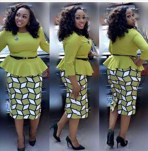 2019 Yeni Elegent Moda Stil Yaz Afrika Kadınlar Pamuk Artı Boyutu Elbise L 5XL Drop Shipping kaliteli