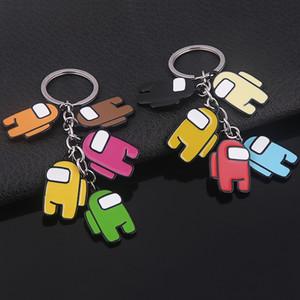 50pcs 5 styles jeux chauds parmi les touches de cadeau colorées CLYCHAIN US ACRYLIQUE pour clés de voiture Accessoires de décoration 5cm * 3cm AIR11 FY7332