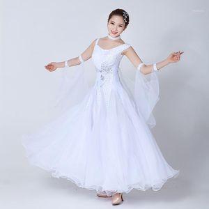 Standard Ballroom Dance Dress Damen 2019 Neu Walzer Tanzende Rock Erwachsene Günstige Weißer Ballsaal Wettbewerb Tanzkleider1