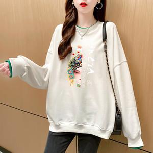 Осень 2020 INS Online онлайн Китай Мода Пекинская оперия на лицевой стороне Макияж большой свободный пуловер свитер женский поддель