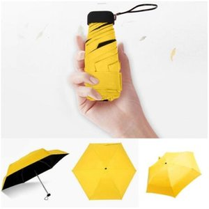 Rainy Day Pocket Folding Umbrellas Parasol Sun Foldable Mini Umbrella Candy Color Traveling Rain Gear