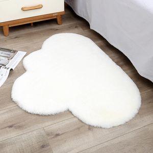 70x90cm Cloud Shape Rug Carpet Mat for Living Room Decor Faux Fur Carpet Kids Room Bedroom Shaggy Area Rug Modern Mat