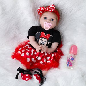 Newest Girl Toys 55cm Soft Silicone Dolls Surprises Gifts Baby Realistic Vinyl Boneca Reborn Doll For Girls Q1124