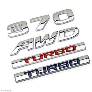 3D Metal 370 AWD TURBO Auto Car Sticker Emblem Badge Decal For Honda Avancier Crown Accord Civic CRV Fit HR-V Vezel Odyssey CRZ