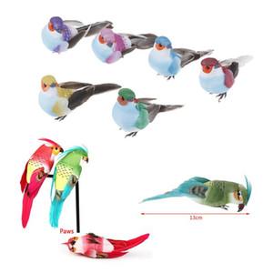 Декоративные поддельные голуби Попугай Искусственная пена перо Свадебный орнамент Домашний ремесленный стол декор птица игрушка свадебный декор