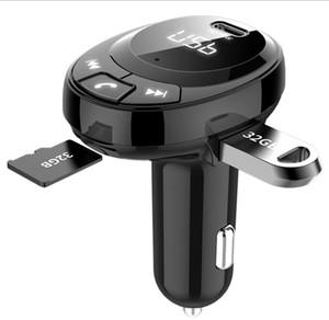 BT09 C02 FM transmitter Bluetooth 5.0 HD Call car kit handsfree fast charging PD 18W 20W digital display for all smartphone