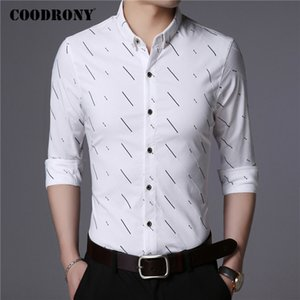COODRONY Brand Long Sleeve Shirt Men Spring Autumn Mens Social Business Casual Shirts Fashion Striped Cotton Chemise Homme C6029 C1211