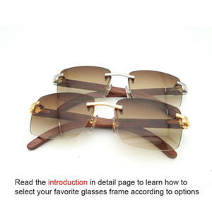 Ienbel Square Brand Designer Sunglasses Carter Women Random Buffalo Horns Glass Vintage Sunglass Eyewear Men 012
