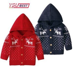 Christmas Cardigan Newborn Sweater Knitted Baby Clothes Baby Boys Sweaters Deer Girls Cardigan Toddler Boy Sweater Kids Knitwear 201126