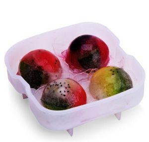 High Quality Ice Balls Maker Utensils Gadgets Mold 4 Cell Whiskey Cocktail Premium Round Spheres Bar Kitchen Part jlliwe bdefight