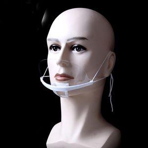 Disposable Plastic Clear Masks Transparent Lens Smile Mask Anti-Fog Droplets Restaurant Hotel Restaurants Catering Mask HH9-3574