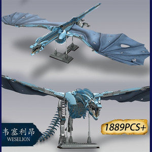 + Thrones Game Dragon Viserion Madre Black Death Balerion Anime Action Figuras Building Blocks Juguetes para niños Regalos LJ200928