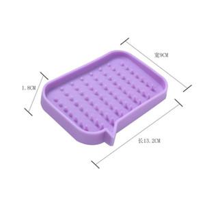 실리콘 비누 홀더 스토리지 랙 드레인 비누 상자 트레이 비누 상자 샤워 비누 트레이 접시 플레이트 홀더 욕실 도구 13.2 * 9 * 1.8cm DBC 44 G2