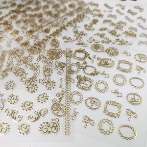 30pcs 3D Gold Nail Art Stickers Decals Hot Stamping Nail Art design Shinning Self Adhesive DIY Decorations