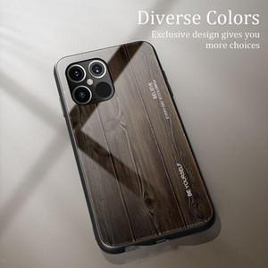 iPhone 12 برو ماكس حالة الهاتف الخشب الحبوب الزجاج TPU رقيقة handfeel المضادة للخدش مصمم الهاتف حالة تغطية لفون 11
