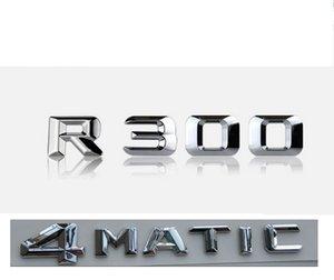 """Chrome """"R 300 4 Matic"""" Trunk dell'automobile Lettere posteriori Parole Distintivo Emblema Lettera Adesivo Decalcomania per Mercedes Benz R300"""
