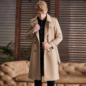 New Autumn Winter Mens Trench High Quality Overlength Solid Color Male Jackets Fashion Loose British Man Coats Plus Size 6xl