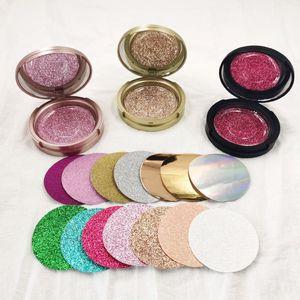 Round Plastic eyelash box eyelashes package High quality mink lashes wholesale box with mirror new colors
