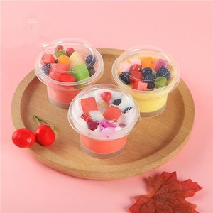 50pcs 75ml disposable pudding cup with lid cooking plastic milk jelly cup small gelatin mousse cake transparent yogurt