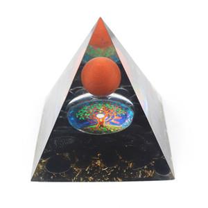 Venta al por mayor 5 PCS Orgone Energy Stone y Resin Pyramid Symbol Símbolo Colgante Star Transfer Lucky Regalo Joyería