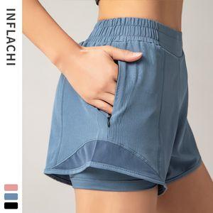 New fitness shorts women's summer hot pants night reflective anti light sports casual quick dry running ventilation