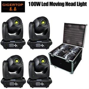 عالية الجودة LED البسيطة 100W بقعة ضوء رؤساء تتحرك ملون ضوء المرحلة مرحلة DMX ضوء DJ حزب ديسكو حفلة 4IN1 حالة الطريق التعبئة