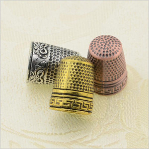 DONYAMY 1pc Metal Sewing Thimbles Finger Protector Sewing Tools Hand Needlework Accessory Nice Gift&Collection