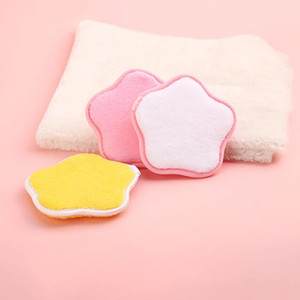 3 Colors Star Shape Reusable Microfiber Women Facial Cloth Magic Face Towel Makeup Remover Towel Cleaning Wash Towel Random pick