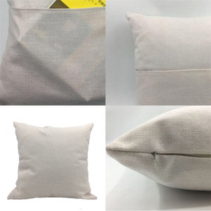 Pocket Pillow Cases Solid Color Linen Sublimation Blank Cushion Covers 30*30 40*40cm Home Decor Factory Direct 6 2yj M2
