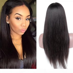 Straight Lace Front Human Hair Wigs With Baby Hair Straight Brazilian Hair Wigs For Women Natural Black None Remy Lace Wig