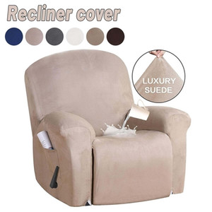 Suede All-inclusive Recliner Chair Cover Stretch Chair Waterproof Non-slip Slipcover Dustproof Massage Sofa Chair Seat Protector 201222