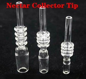 100% Quartz Tips Dab Straw 10mm 14mm 18mm Male Quart Tips For Nectar Collector For dab oil rig bong