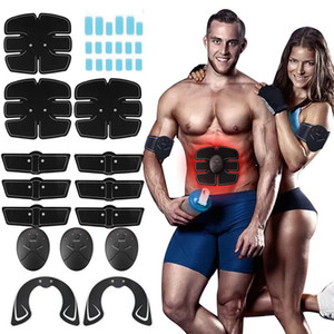 32pcs EMS EMS Boby Abdominal Muscle Hip entraîneur ABS Fesses Stimage Stimulateur musculaire sans fil Home Gym Fitness Equipment 201124