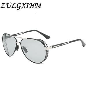 Zulgxihm Marke Punk Pilot Polarisierte Sonnenbrille Männer Photochromic Linse Fahrreisen Sonnenbrille Tac Linse UV Schutzbrille