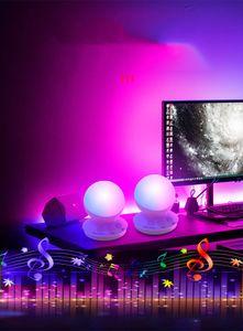음악 사운드 제어 야간 조명 빛 현장 분위기 등을 머리맡 RGB 창조적 인 선물은 밤 분위기를 증가